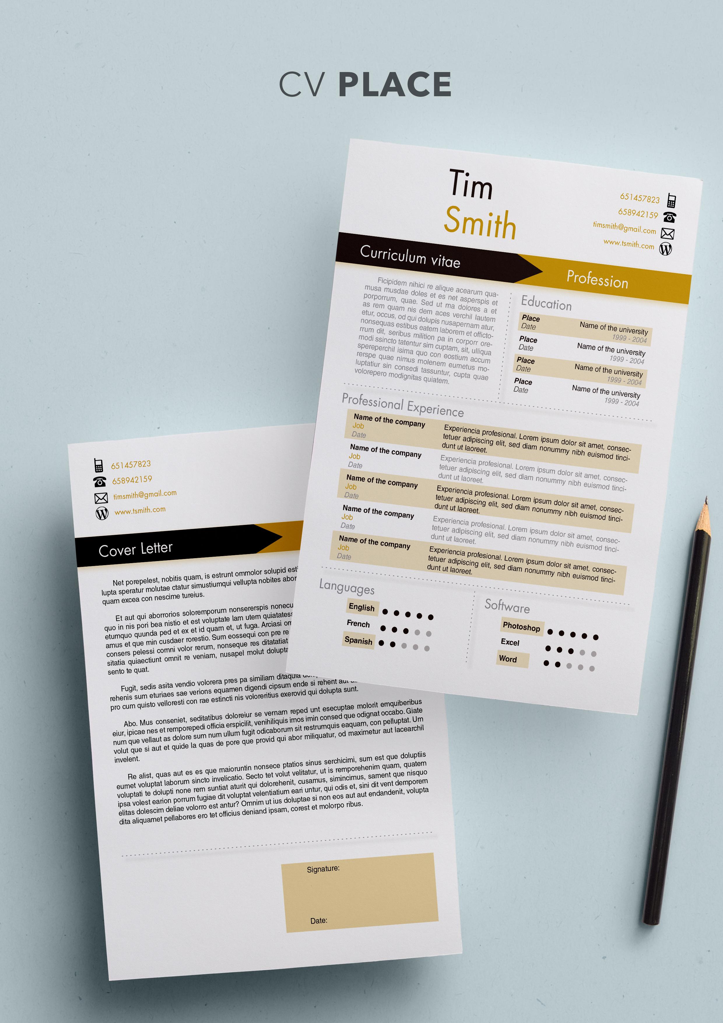 place cv template resume templates shopcv