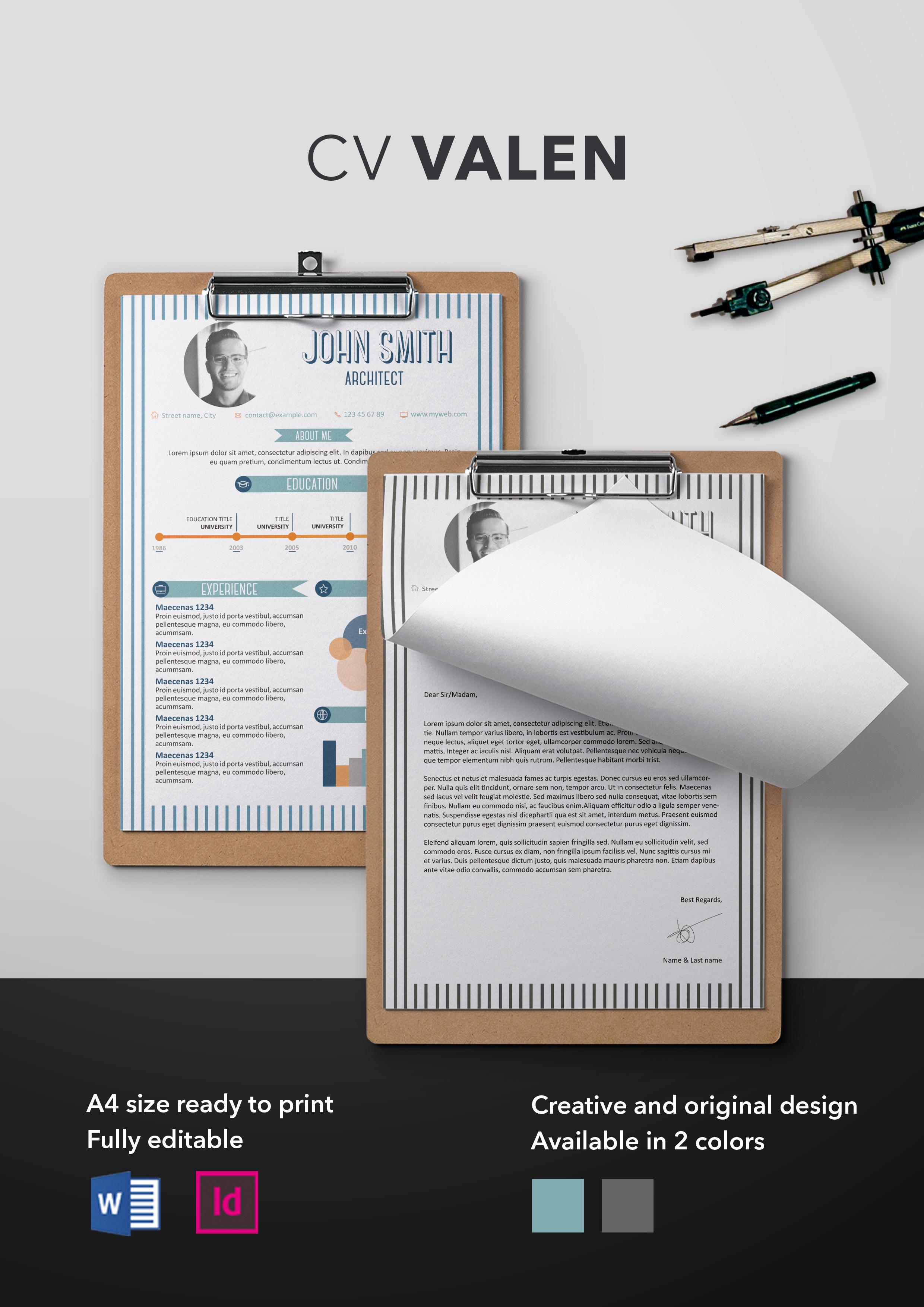 Valen CV Template | Resume Templates | ShopCV