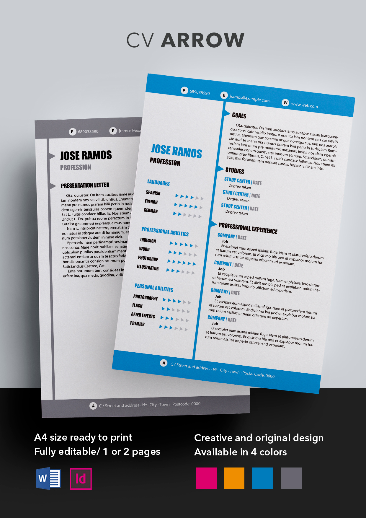 Arrow Cv Template Resume Templates Shopcv