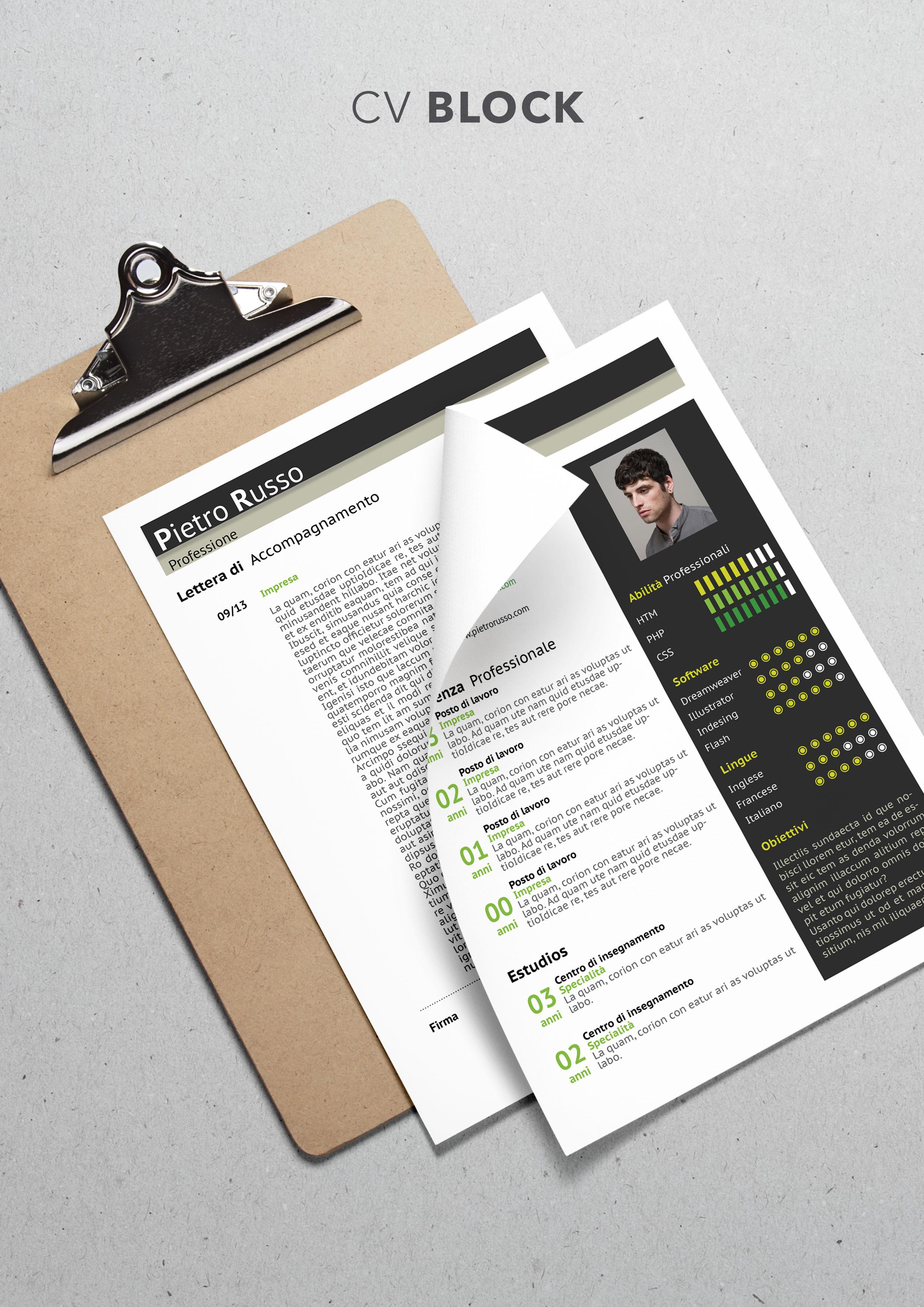 Curriculum Vitae Modello Block