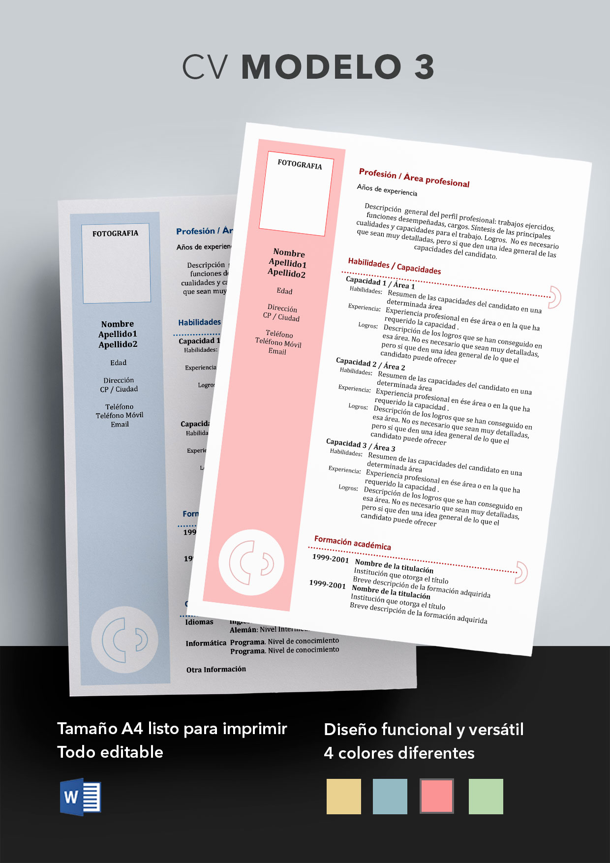 Curriculum Vitae Modelo 3 | Plantillas de currículums