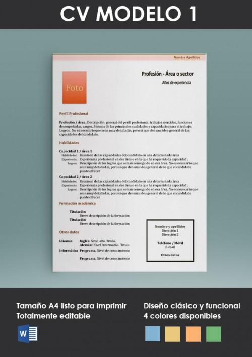Plantilla CV Modelo 1 portada