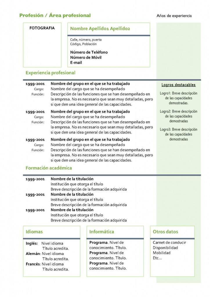 Curriculum Vitae Modelo 4 Plantillas De Curriculums