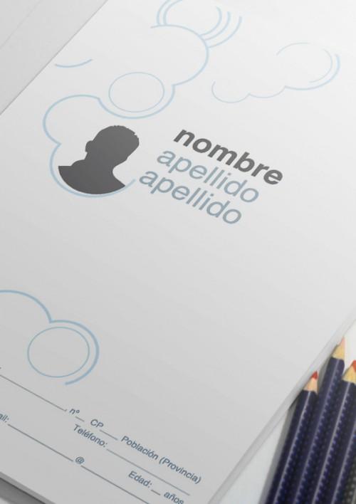 plantillla de curriculum vitae modelo nubes datos personales