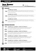 Plantilla de curriculum modelo metro en color negro