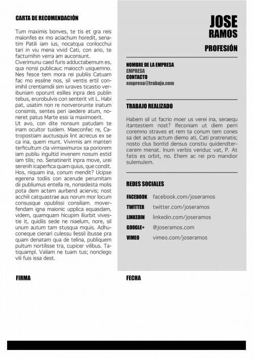Carta presentacion Social