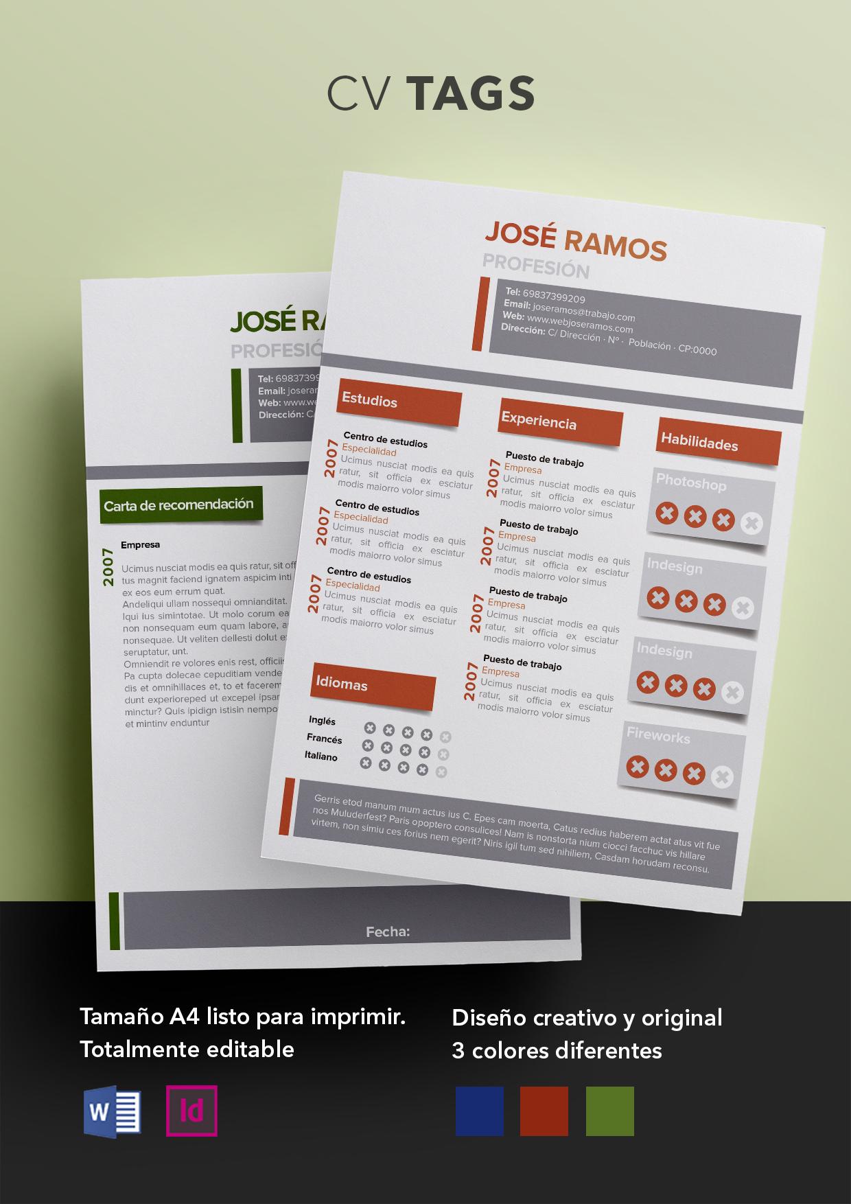 Curriculum Vitae modelo Tags | Plantillas de currículum