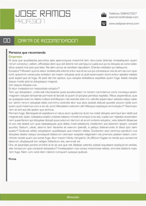 carta de presentacion cv leo