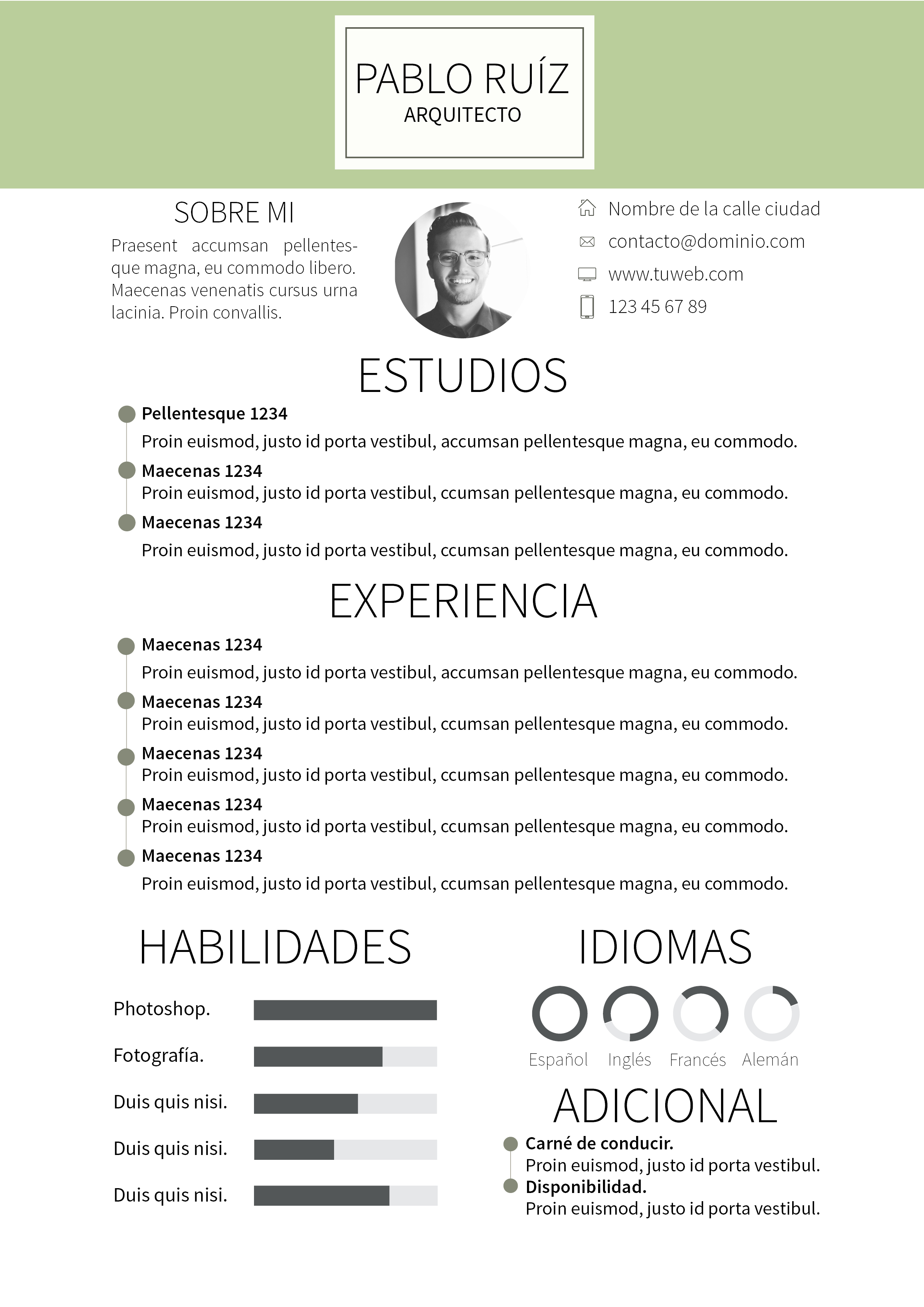 Curriculum Vitae Modelo - More CV Samples