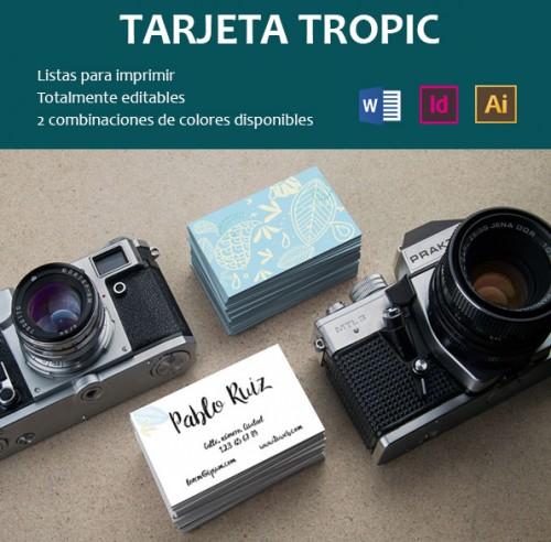 Plantilla de tarjeta Tropic