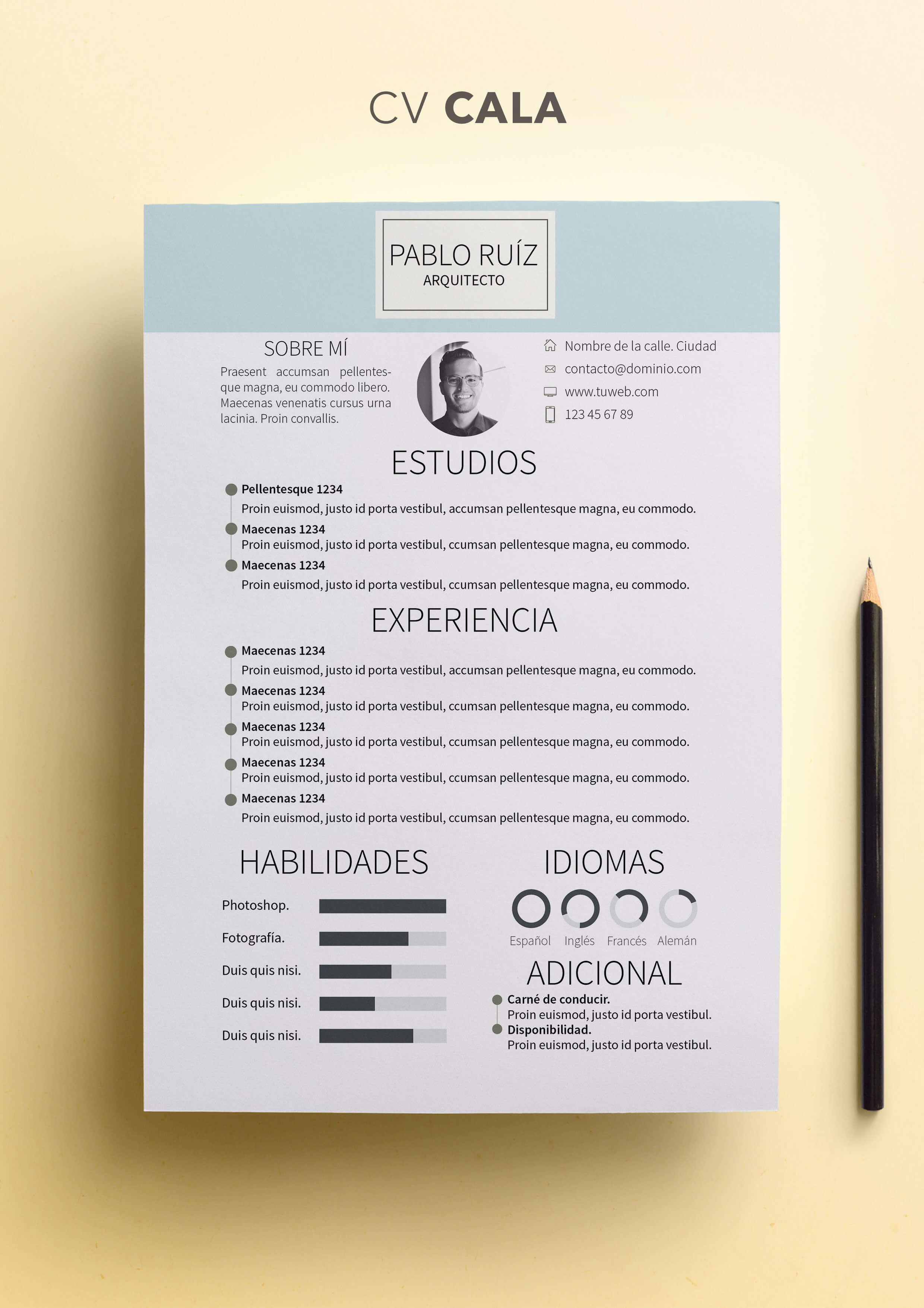 Curriculum Vitae modelo Cala | Shop CV