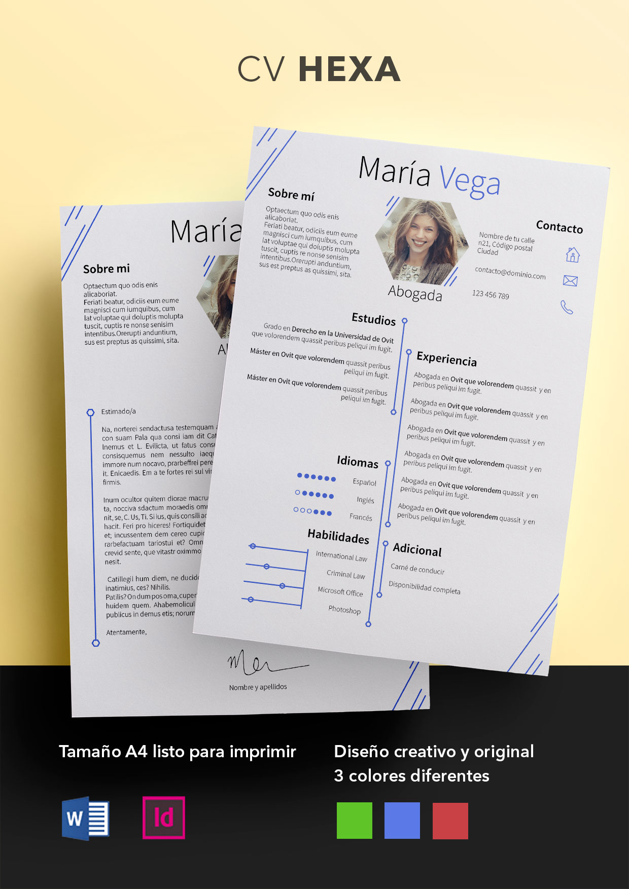 Currículum Vitae modelo Hexa - Shop CV