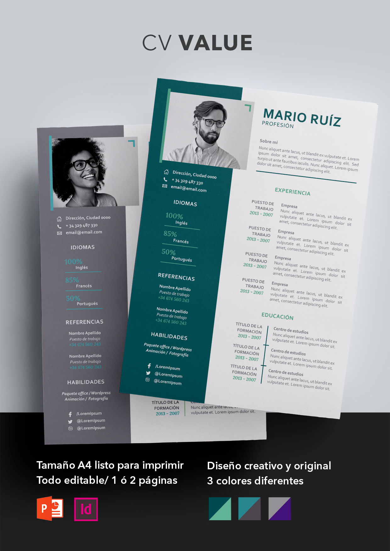 Currículum Vitae Modelo Value - Shop CV