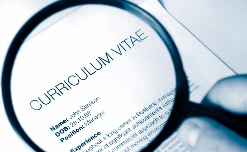 Errores al redactar el currículum
