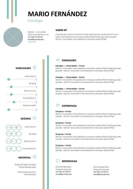 Currículum Vitae Modelo Route